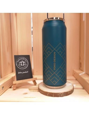canette-art-deco-bleu-fonce-reutilisable-zero-dechet-yoko-design